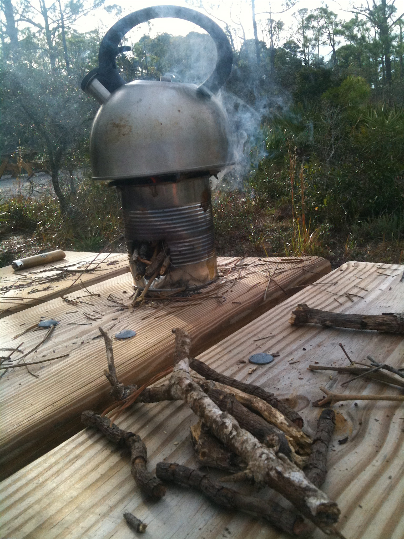 how to make coffee on a camp stove
