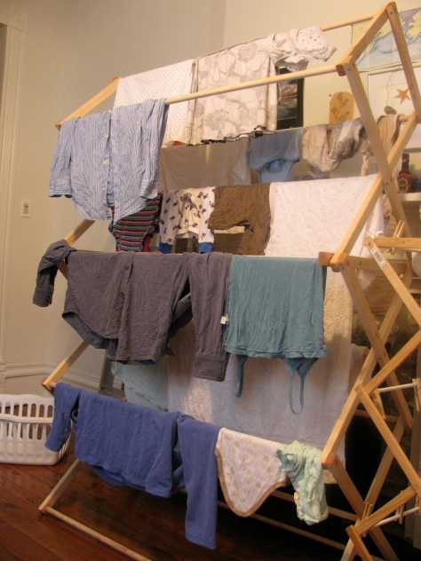 wooden rack for drying clothes